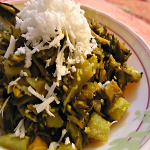 Mocha Ghonto or Banana Flower Curry