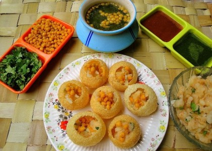 Home made pani puri