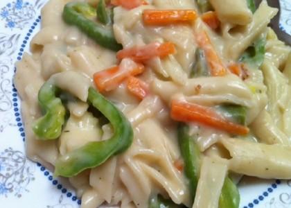 Pasta-In-White-Sauce