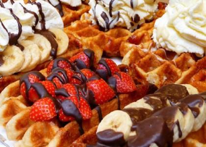 banana-chocolate-waffles