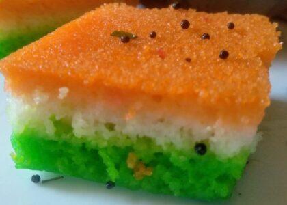 Tri Color Dhokla